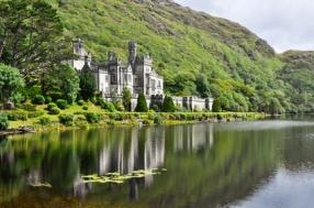 Kylemore Abbey in Connemara mountains, Ireland